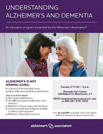 Westside Care Center, Understanding Alzheimer's and Dementia, Greater Hartford Memory Care, David Skoczulek